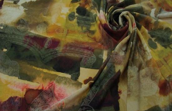 крепдешин арт.94-732 пр-во Италия,шир.142 см