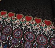 Вышивка на ткани или на кружеве