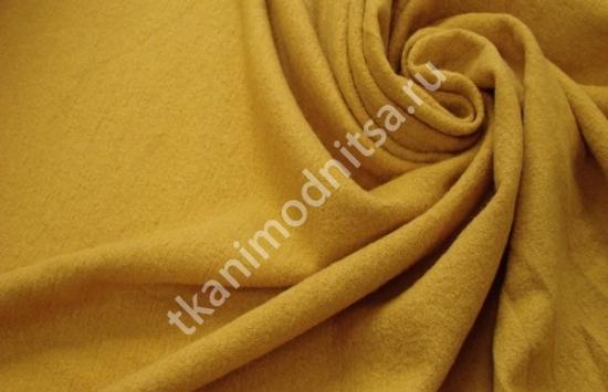 Ткань лоден желтого цвета