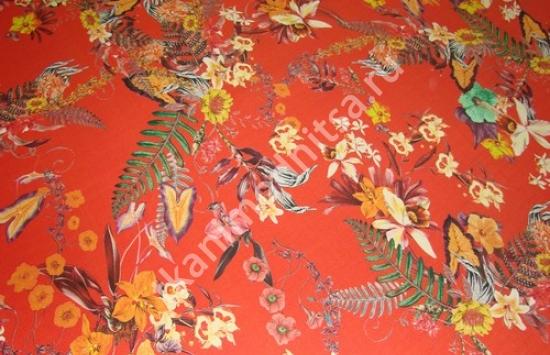 ткань плательно-костюмная рогожка арт.93-462 пр-во Италия,шир.144 см