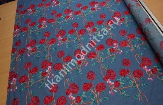 джинсовая ткань арт.88-364 пр-во Италия,шир.154 см