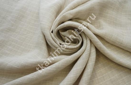 Ткань плательно-костюмная  лен арт.93-259,шир.150 см пр-во Италия
