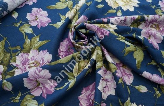 Ткань плательно-костюмная  лен арт.93-225,шир.142 см пр-во Италия