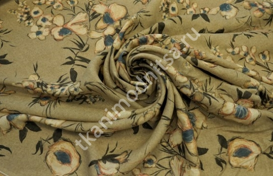 Ткань плательная  лен арт.93-230,шир.140 см пр-во Италия