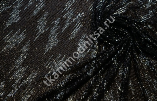 Сетка стрейч с пайетками арт.87-738 пр-во Италия,шир.148см -130 см