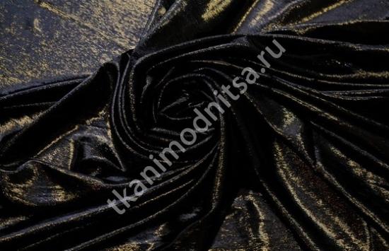Бархат с отделкой лаке  и пластиковой нитью арт.87-749 пр-во Италия,шир.137см