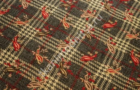 Ткань пальтовая шерсть ETRO арт.95-520 пр-во Италия,шир.144 см