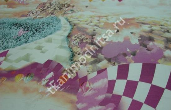 трикотаж плательный арт.87-171,шир.145 см пр-во Италия